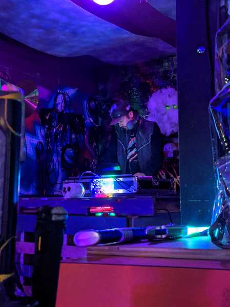 PMG PHOTO: JOSEPH GALLIVAN - Carpenter and DJ Bobby Bluefoot passed the pandemic in Northern California but now is back in Portland, playing bass music and whatever works.
