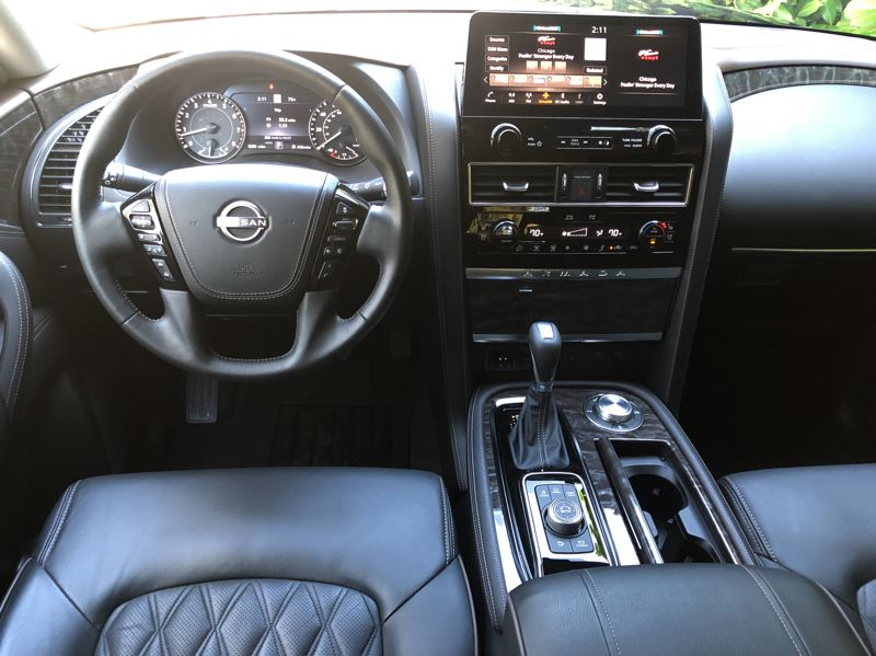 PMG PHOTO: JEFF ZURSCHMEIDE - The 2021 Nissan Armada has now has a large 12.3-inch touchscreen display on the dash, with standard navigation and Bose audio included on the higher trim levels.