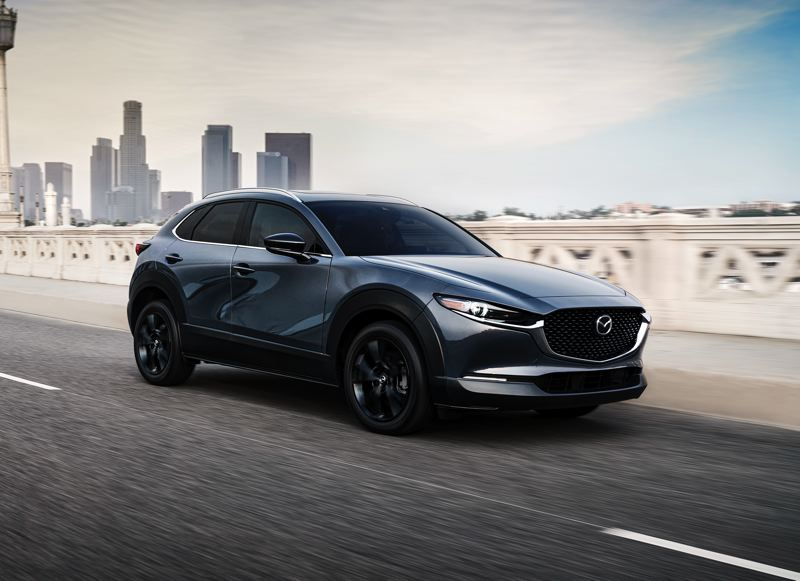 COURTESY PHOTO: MAZDA NORTH AMERICAN OPERATIONS - The 2021 Mazda CX-30 is a beautifully styled small crossover, and the newly-available turbocharged 2.5-liter engine turns the driving experience from enjoyable to downright fun.