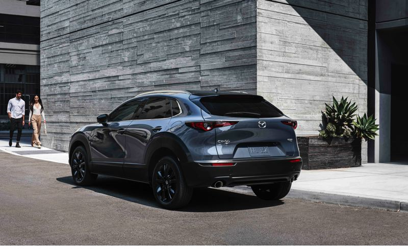 COURTESY PHOTO: MAZDA NORTH AMERICAN OPERATIONS - The 2021 Mazda CX-30 is striking from every angle, and the turbocharged models come standard with all-wheel-drive.