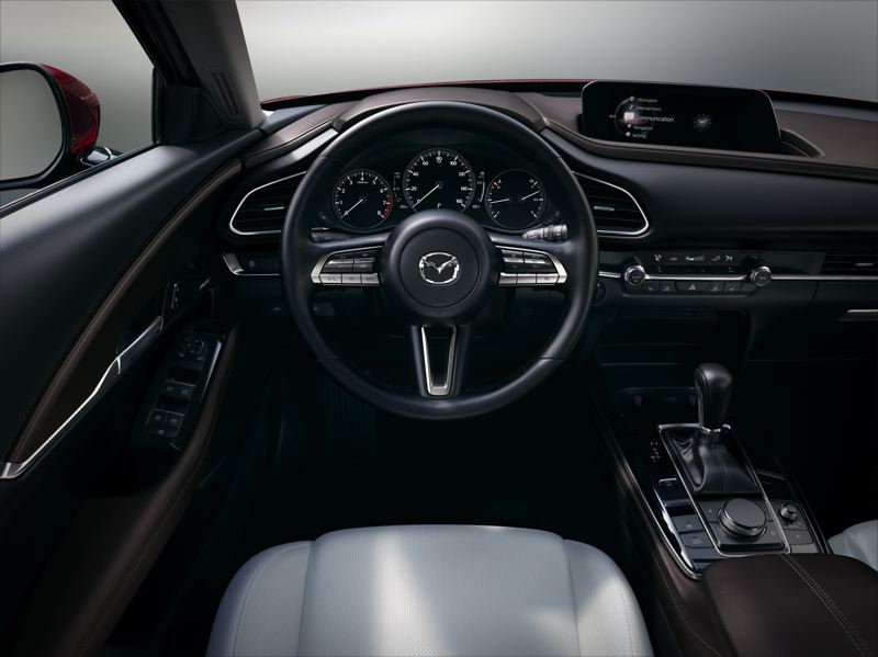 COURTESY PHOTO: MAZDA NORTH AMERICAN OPERATIONS - The interior of the 2021 Mazda CX-30 is surprisingly roomy and refined, which practically every available automotive technology.