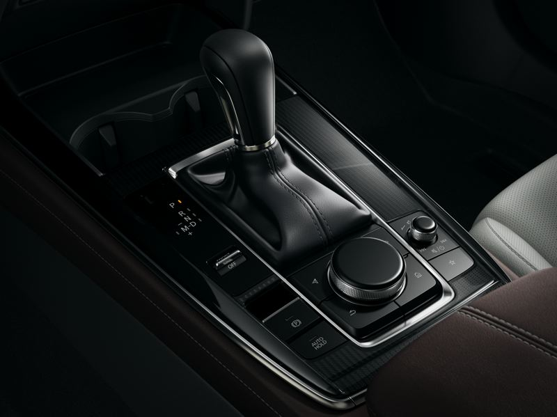 COURTESY PHOTO: MAZDA NORTH AMERICAN OPERATIONS - The attention to detail in the 2021 Mazda CX-30 is available everywhere you look, inlcuding the center console where a large knob controls the infotainment system.