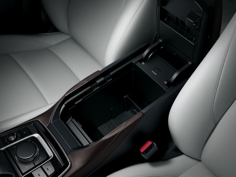 COURTESY PHOTO: MAZDA NORTH AMERICAN OPERATIONS - A large storage compartment is available between the comfortable front seats in the 2021 Mazda CX-30.