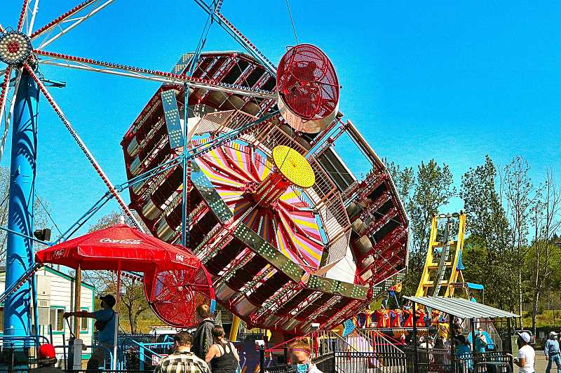 DAVID F. ASHTON - More traditional thrill rides, like Rock-O-Plane and Anti Gravity help guests get warmed up for even more adventurous experiences on extreme attractions.