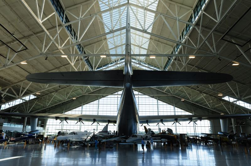 COURTESY PHOTO: DREAMSTIME - Howard Hughes' massive Spruce Goose towers over other planes and exhibits at the Evergreen Aviation and Space Museum in Yamhill County.