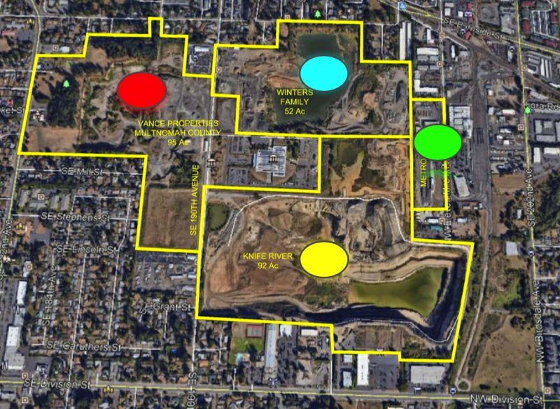 COURTESY PHOTO: BARRY SMITH - A site map for Barry Smiths proposed development.