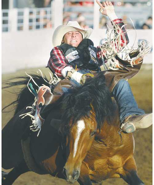 PMG FILE PHOTO - After a long wait the St. Paul Rodeo will return to the tiny Marion County town June 30 through July 4.