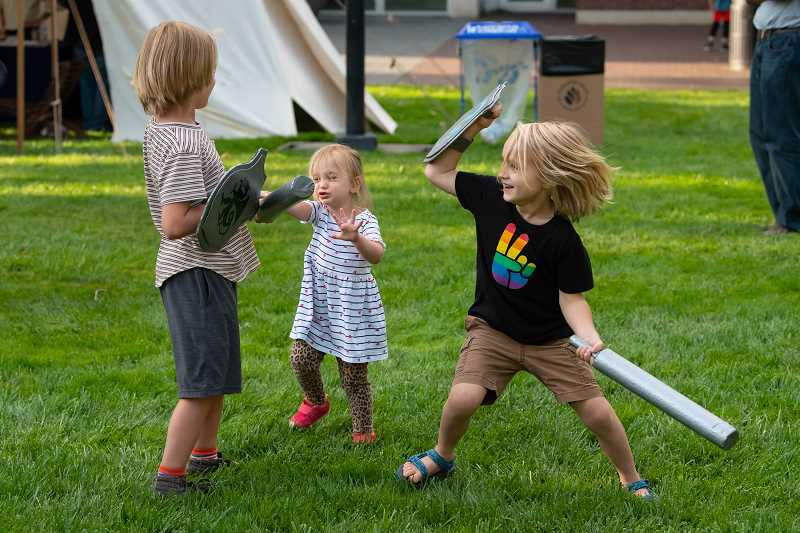 COURTESY PHOTO - Experience Theatre Projects Shakespeare festival will be a three-day outdoor in-person event. The event will feature sword fighting, performances and a variety of food.