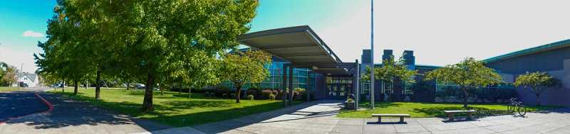 COURTESY PHOTO: NCSD - Clackamas High School's building and student body in Happy Valley was targeted by a hate crime overnight on May 23/24.