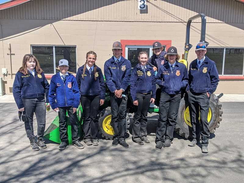 CULVER FFA PHOTO  - Culver FFA students participated in the Central Oregon District FFA Tractor Driving competition on April 21.