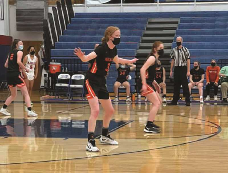 COURTESY PHOTO - The Molalla High girls basketball team dropped an overtime match-up with Corbett on May 25.