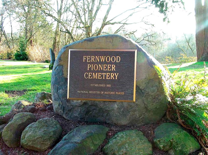 COURTESY PHOTO: FERNWOOD PIONEER CEMETERY - Newberg's Fernwood Pioneer Cemetery is on the National Register of Historic Places. It has been hit by lots of vandalism and mischief in the past few years.
