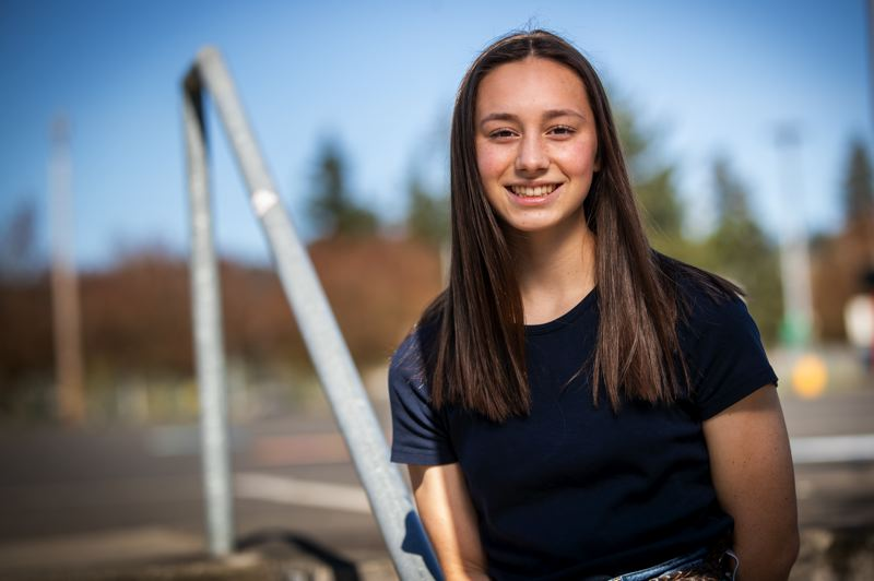 PMG PHOTO: JAIME VALDEZ - Senior Anika Havlik is graduating from Scappoose High School this spring as valedictorian and will start at the Air Force Academy in the fall.