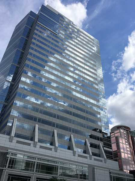 PMG FILE PHOTO - Managers of the Fox Tower at 805 SW Broadway in downtown Portland are targeting 100 percent capacity will be available to workers by September 7, just after Labor Day 2021. Wealth management firm Moss Adams recently reupped its lease.