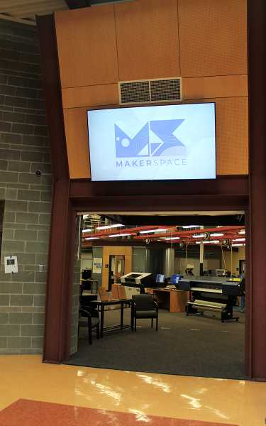 PMG PHOTO: KRISTEN WOHLERS - A large area in the Applied Technology Center is now a makerspace.