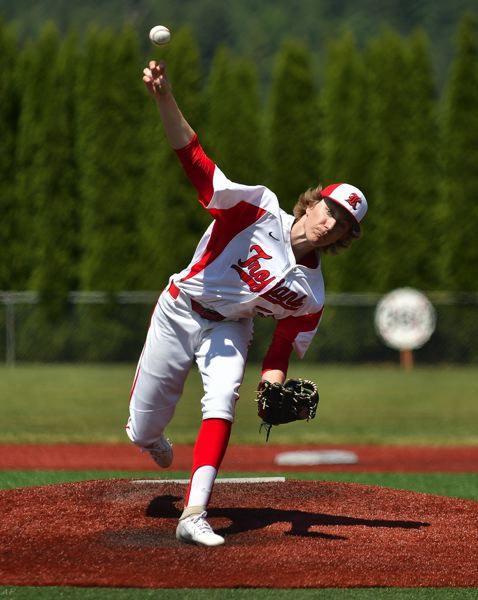 COURTESY PHOTO: ANDRE PANSE - Holding the state semifinal and championship game as a double-header forced teams to reach deep into their bullpen, with Kennedy tapping nearly half its roster to throw against either Western Christian or Glide.
