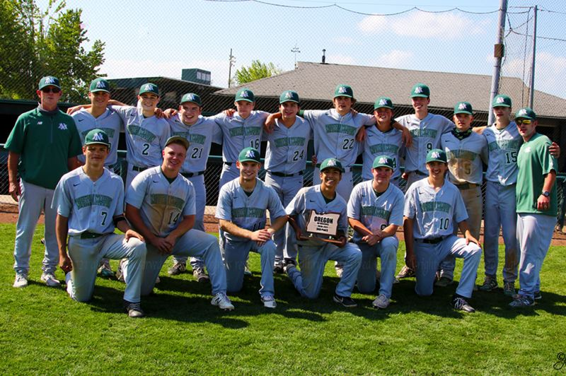 COURTESY PHOTO: JO WHEAT - The North Marion Huskies became the first high school baseball team in Oregon history to earn a third-place trophy in this year's new consolation playoff format.