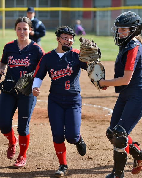 COURTESY PHOTO: ANDRE PANSE - From left: Seniors Hailey Arritola, Elise Suing and Ellie Cantu are part of a senior class that has been to the state finals every year.