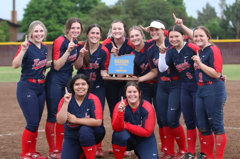 COURTESY PHOTO: ANDRE PANSE - The 2021 Kennedy softball team concluded a 16-0 season in which the team gave up eight total runs —including only one in the four-game playoff tournament.