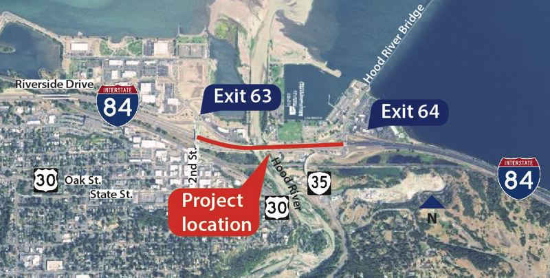 COURTESY PHOTO: ODOT - A stretch of Interstate 84 is back open in Hood River in time for Memorial Day weekend.