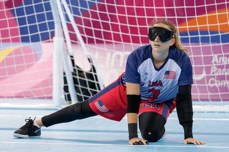 COURTESY PHOTO: JOE KUSUMOTO - Eliana Mason will compete for Team USAs Goalball team in the upcoming Paralympic games in Tokyo this summer.