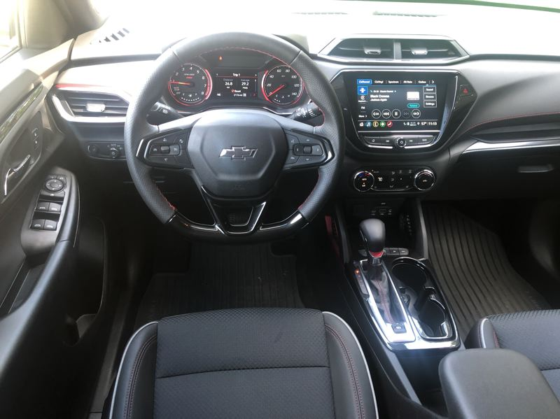 PMG PHOTO: JEFF ZURSCHMEIDE - The 2021 Chevy Trailblazer has a suprising amount of interior room. Most trims feature an eight-inch touchscreen display, and a Bose audio system is either optional or included on higher levels.