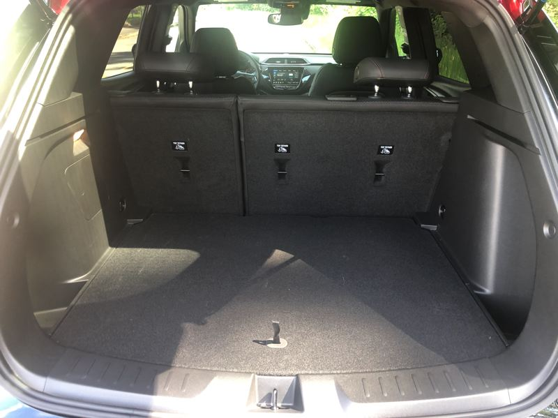 PMG PHOTO: JEFF ZURSCHMEIDE - Cargo space is among the best in its class in the 2021 Chevy Trailblazer.