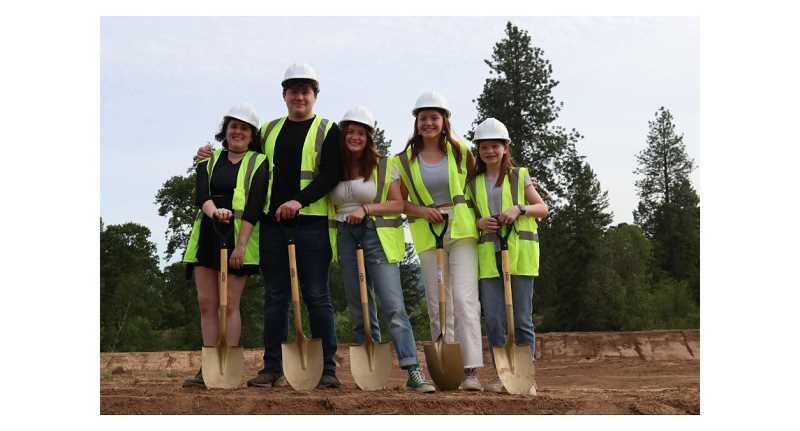 COURTESY PHOTO: TIGARD-TUALATIN SCHOOL DISTRICT - Art Rutkin's grandchildren were among those who showed up for groundbreaking ceremonies of the 11th elementary school planned for the Tigard-Tualatin School District.