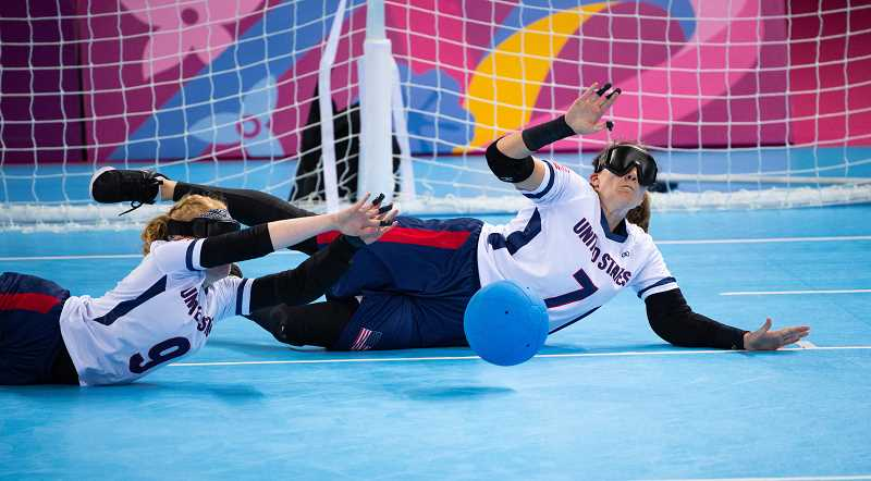 COURTESY PHOTO: MARK REIS - Eliana Mason, 25, who was born with blindness, will play for the Team USAs Goalball team. Goalball is a team sport for the blind and visually impaired.