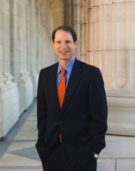 COURTESY PHOTO - U.S. Sen. Ron Wyden, D-Ore., meets virtually with staff from Lines for Life to call attention to its work to deter suicides by veterans on eve of Memorial Day.