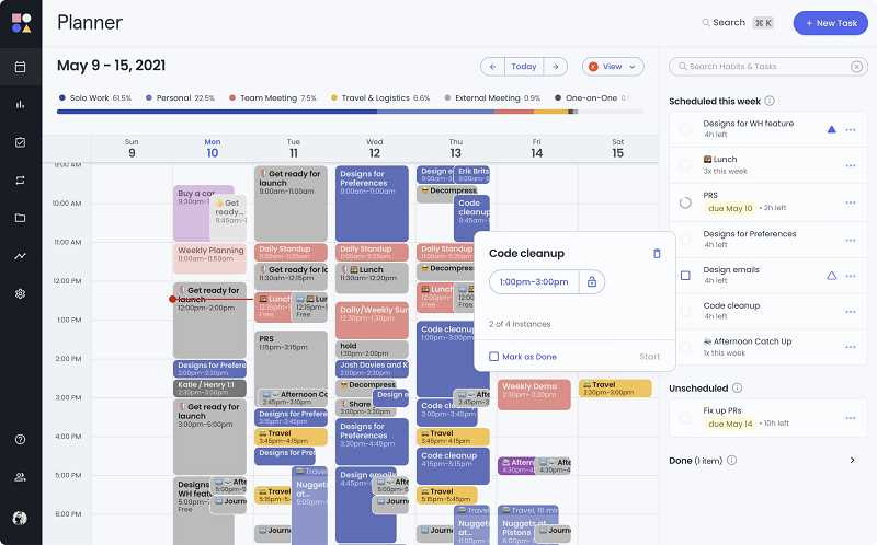 COURTESY GRAPHIC: RECLAIM.AI - Calendar tool company Reclaim.ai has received a $4.8M seed funding round. tHE The tool analyzes calendar content. It can move meetings and appointments around depending on their priority.