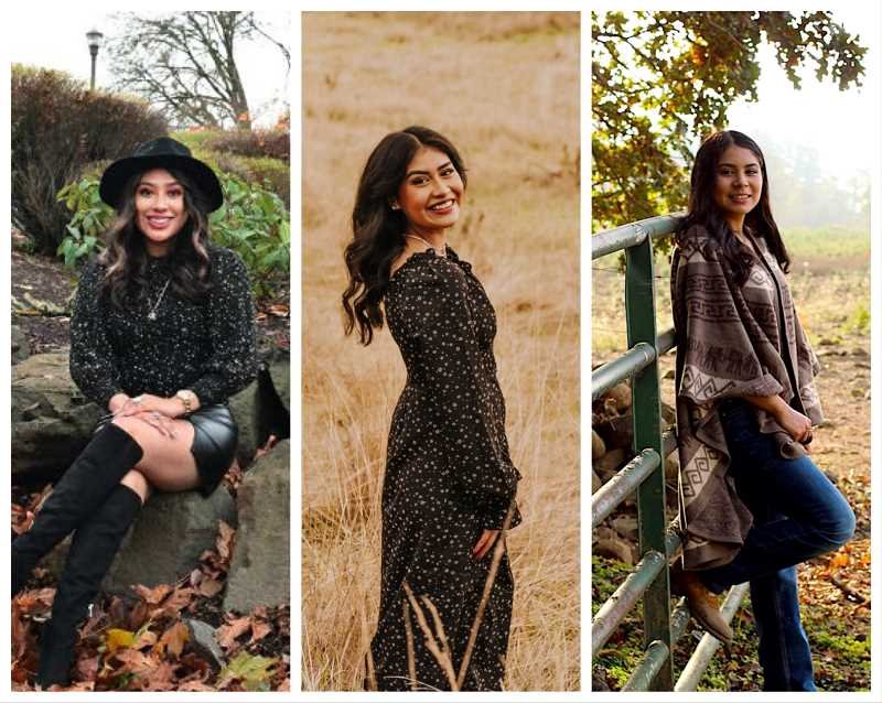 COURTESY PHOTOS - Molalla High School seniors, from left, Ariana Cortes-Giron, Odalys Gutierrez-Sanchez and Lizbeth Beteran-Munoz have earned the Oregon State Seal of Biliteracy.
