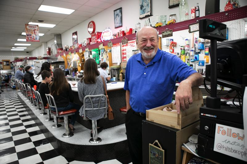 PMG PHOTO: JAMIE VALDEZ - Doug Johnson, owner of the Hillsboro Pharmacy and Fountain at 243 E Main St. in Hillsboro, says he wanted to be a part of pulling the the community out of the pandemic by giving vaccines.
