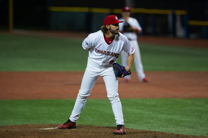 PMG PHOTO JOHN LARIVIERE - Vancouver Canadians reliever Hagen Danner, pictured during a May 11 game, picked up the win as the Canadians earned a series split on Sunday, May 30.