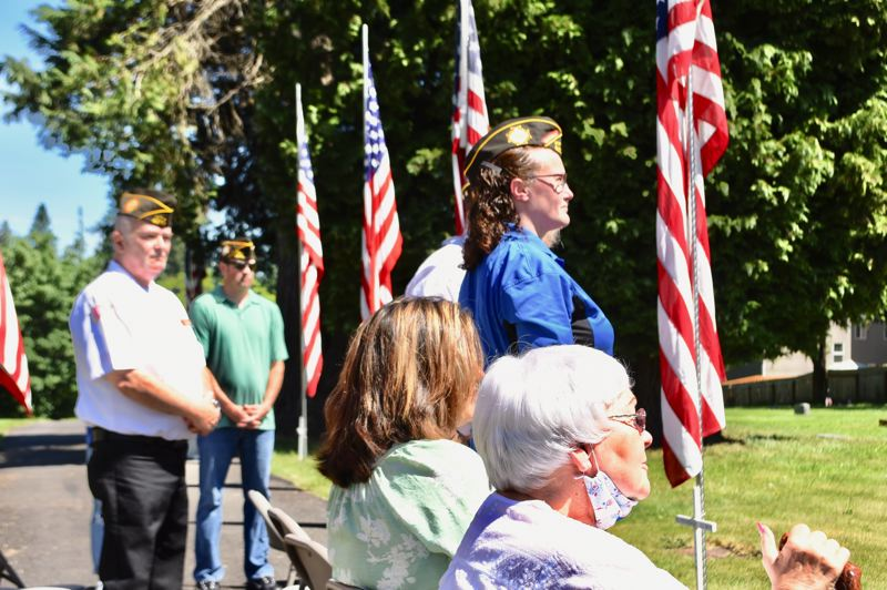 PMG PHOTO: BRITTANY ALLEN - Several servicepeople, members of the VFW and non-members, attended the Memorial Day Ceremony at Fir Hill Cemetery in Sandy on Monday, May 31.