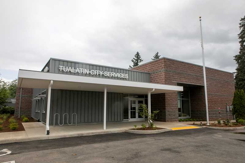 PMG PHOTO: JAIME VALDEZ - The city recently completed the new $8 million Tualatin City Services building, located at Southwest Herman Road and Southwest 108th Avenue.