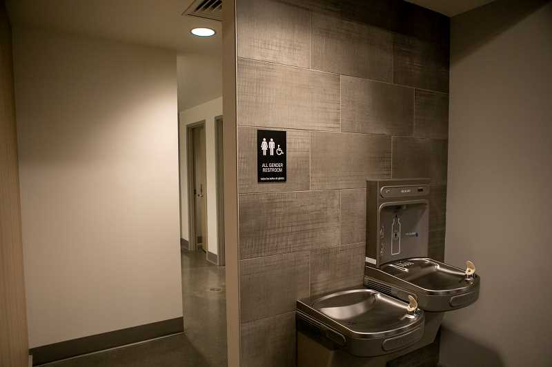 PMG PHOTO: JAIME VALDEZ - All-gender restrooms are included in the new Tualatin City Services building.
