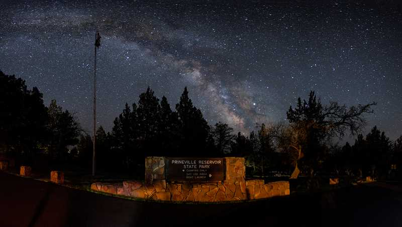 PHOTO COURTESY OF DAWN DAVIS  - Many stunning features of the night sky, including the Milky Way, can be seen by visitors of Prineville Reservoir State Park.