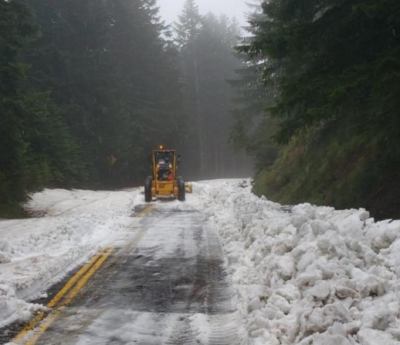 COURTESY PHOTO: MULTNOMAH COUNTY TRANSPORTATION - The upper section of Larch Mountain Road has reopened.
