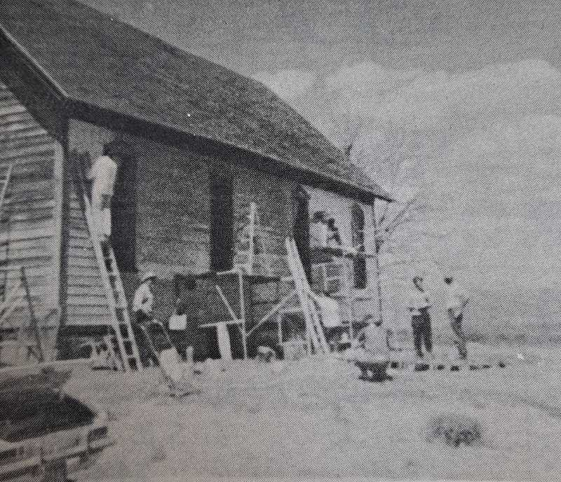 PIONEER ARCHIVES  - June 3, 1971: Progress continues on the Community Church project in Antelope.