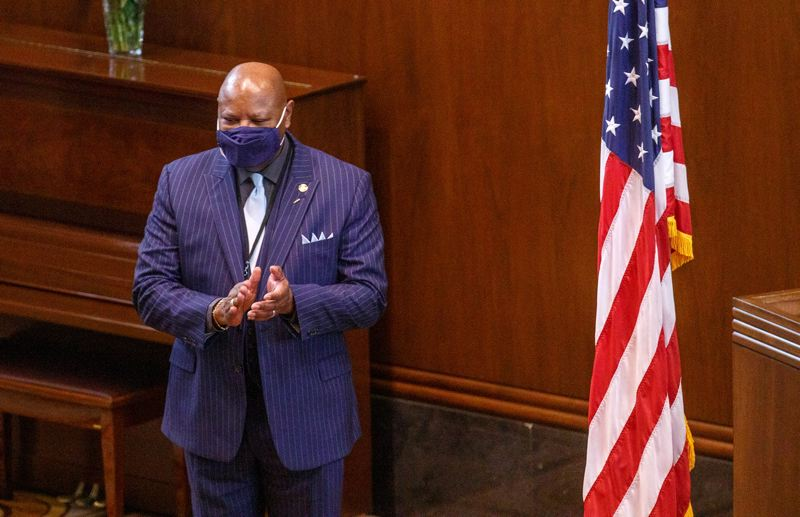 PMG FILE PHOTO - State Sen. James Manning Jr. of Eugene talked about his family's history in the effort to make Juneteenth a state holiday.
