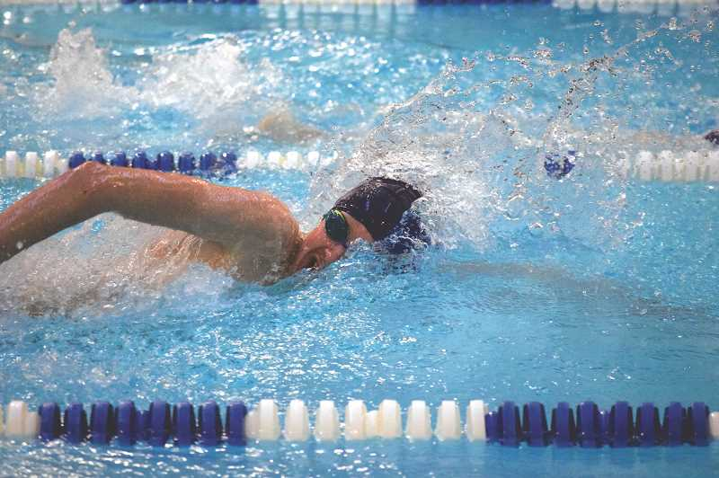 FILE PHOTO - The Canby High swim team took on Lakeridge June 1 with less than its full team.