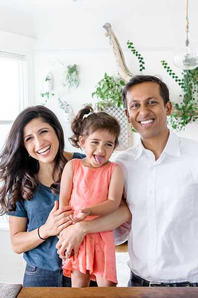COURTESY PHOTO: THISTLE - Thistle co-founder and CEO, Ashwin Cheriyan with his family. The company hopes to acquire customers in Portland at $25 a head.
