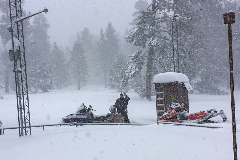 COURTESY PHOTO: OCHOCO IRRIGATION DISTRICT - Derr Meadows is one of three sites where Ochoco Irrigation District in Central Oregon checks snowpack.