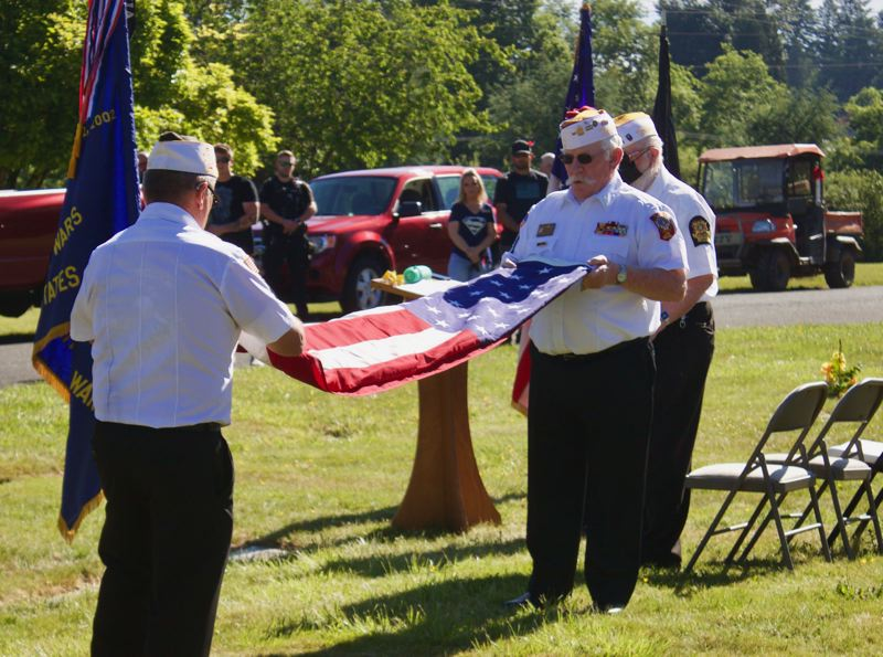 PMG PHOTO: CHRISTOPHER KEIZUR - On Memorial Day Gresham veterans and the families of veterans think of those who died in combat.