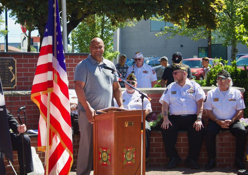 PMG PHOTO: CHRISTOPHER KEIZUR - Gresham Travis Stovall said the significance of Memorial Day isnt lost on him coming from a military family.