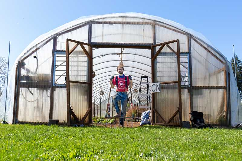 COURTESY PHOTO: CCC - Award-winning photo: Horticulture instructor Chris Konieczka plants, grows and cares for crops that would have been worked on by students in the Organic Farming Practicum program during spring term 2020.
