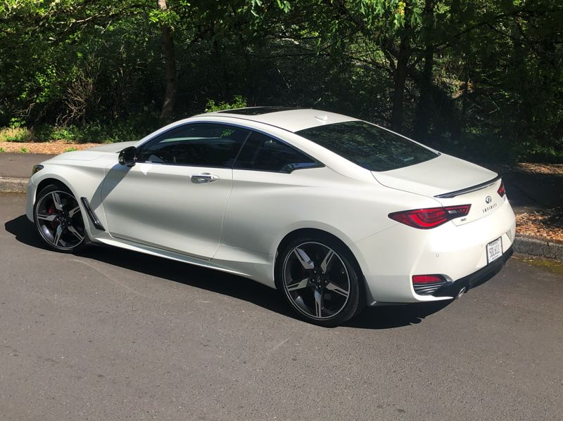 PMG PHOTO: JEFF ZURSCHMEIDE - Although the styling of the 2021 Infiniti Q60 is restrained and tasteful, but it still packs a punch.