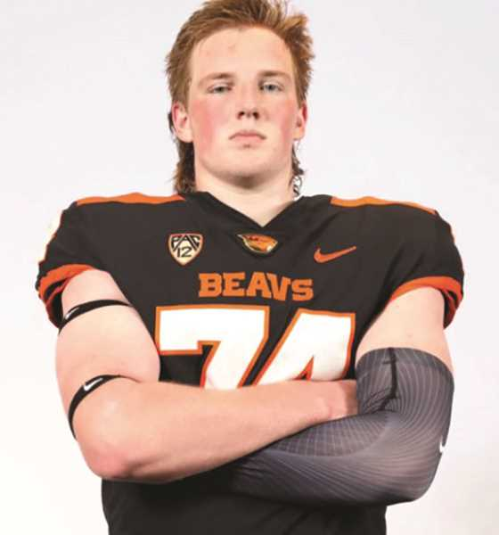 COURTESY PHOTO: JACOB STRAND - Canby High junior Jacob Strand recently received a scholarship offer from the Oregon State football program after a new one-on-one workout during an unofficial visit.