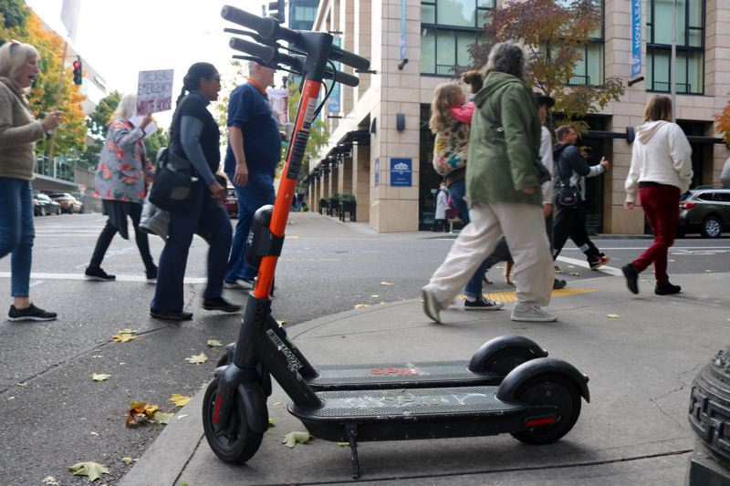 PMG FILE PHOTO - One way the city of Portland can rein in rogue e-scooters with geofencing.